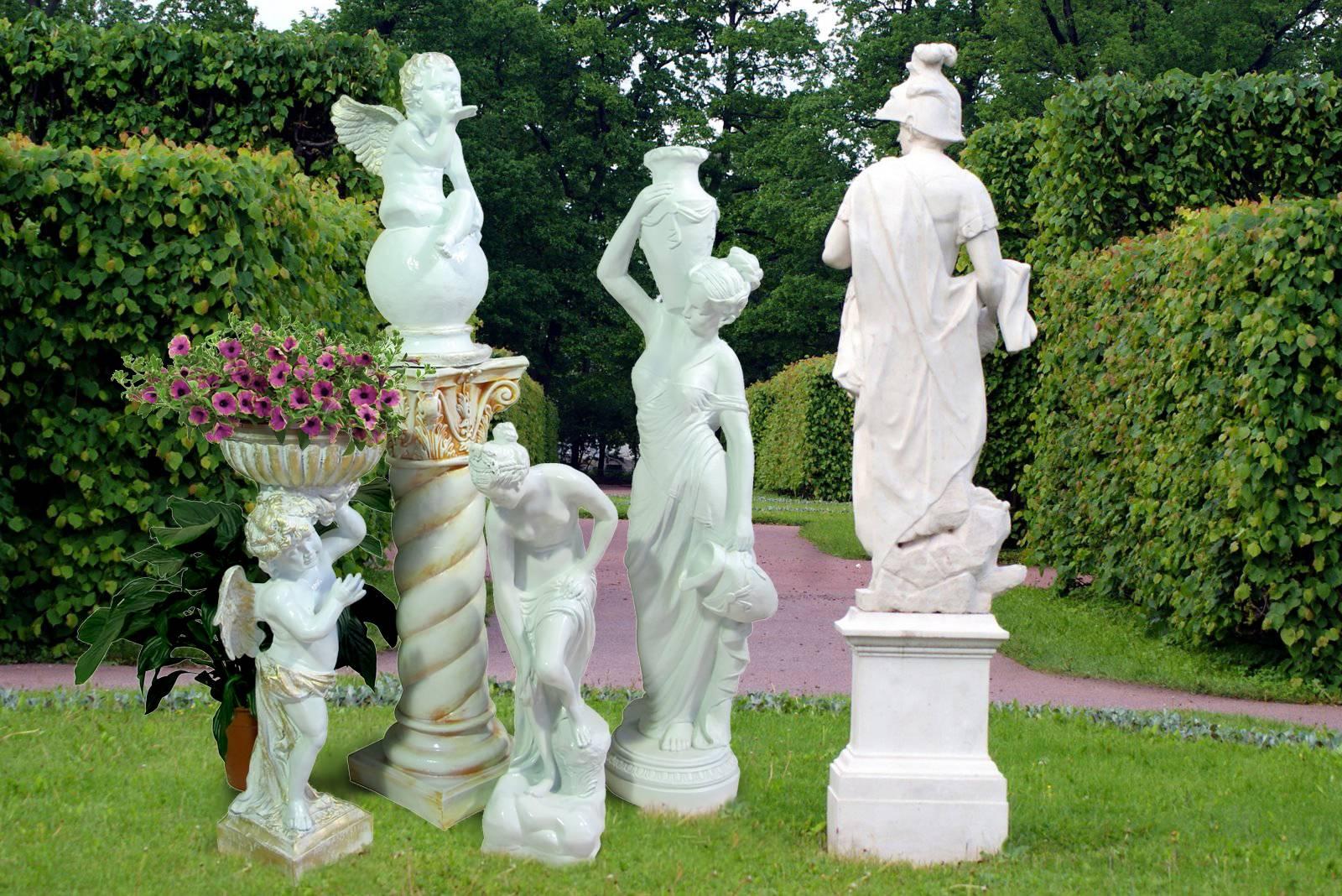 Садовая скульптура: виды, материалы изготовления, фото в ландшафтном дизайне