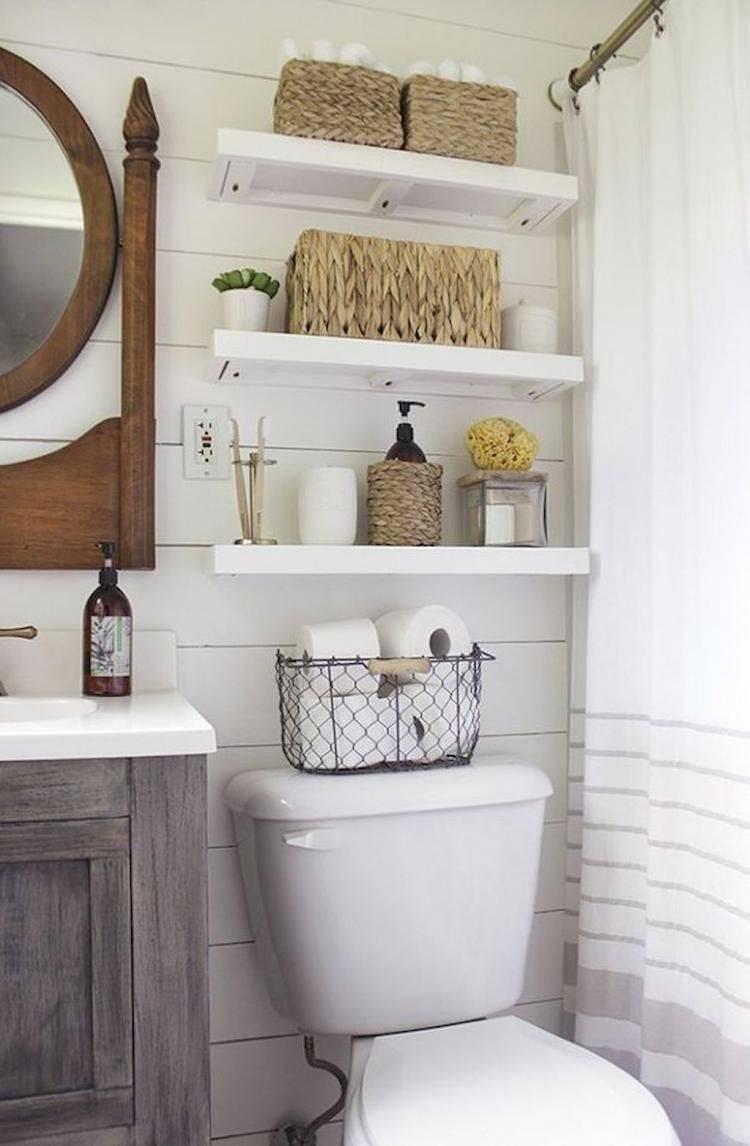 Шкаф в туалет — удобный способ скрыть все необходимое