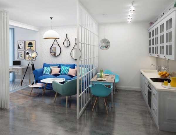 Дизайн кухни-гостиной площадью 15 кв. м.