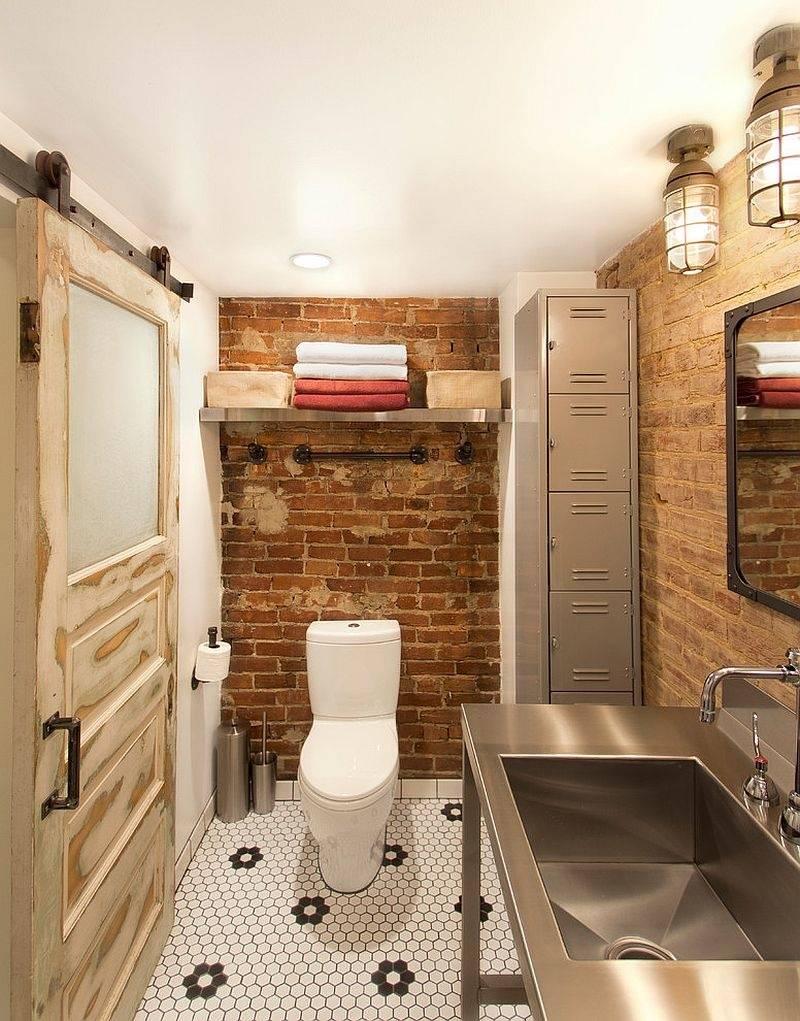 Туалет в стиле лофт - лучшие варианты оформления + фото!