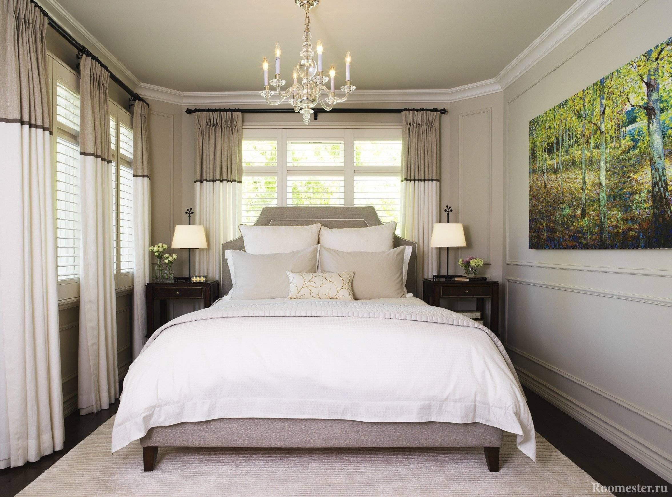 Дизайн окна в спальне или как его красиво оформить