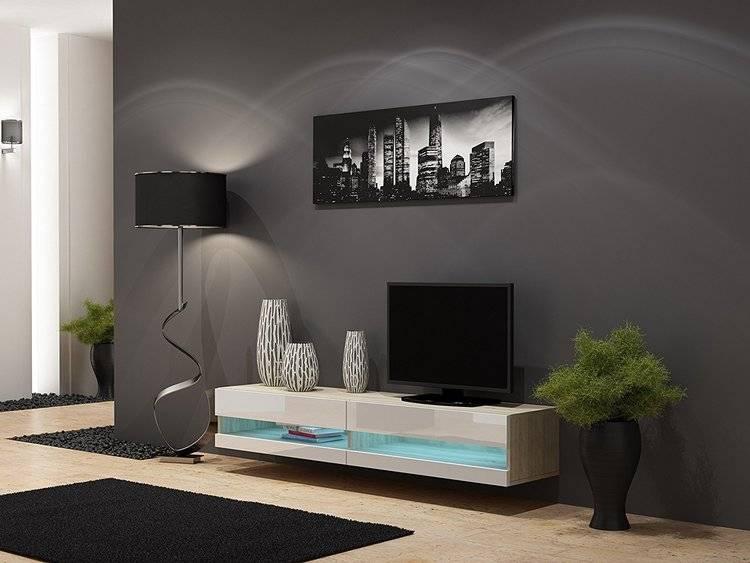 Тумба в гостиную (36 фото): угловая подвесная мебель, современная длинная витрина для посуды и телевизора