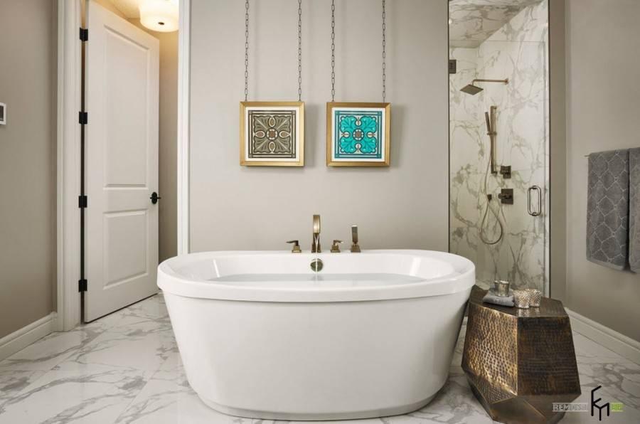 Ванная комната в современной классике: примеры интерьера в современном стиле