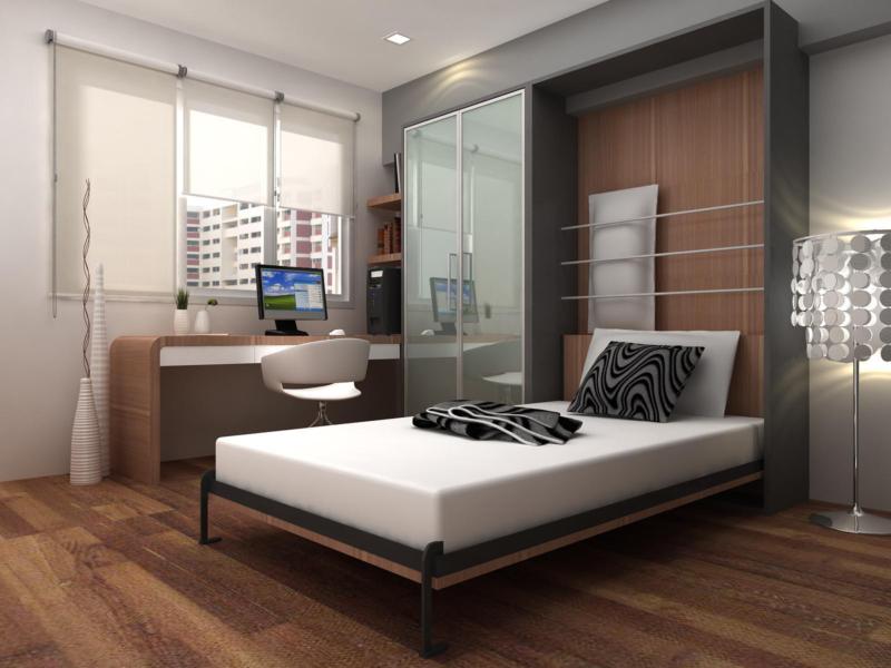 Откидная кровать в интерьере: варианты конструкции, нюансы монтажа