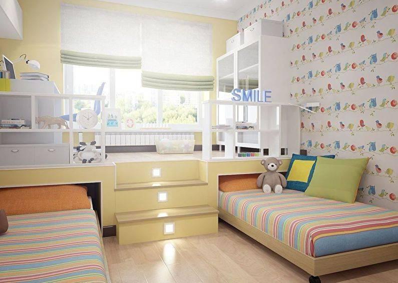 Детская для разнополых детей: варианты дизайна детской комнаты