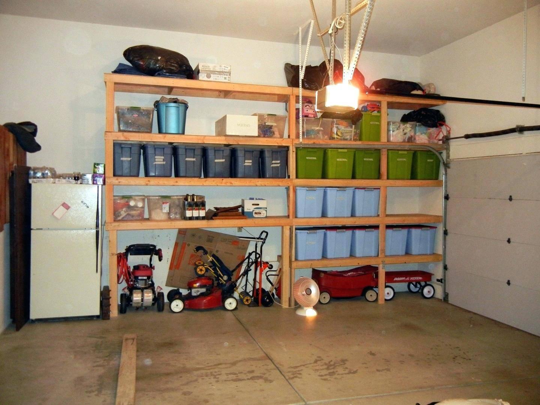 Стеллаж в гараж своими руками из дерева и металла - для хранения колес и другой утвари