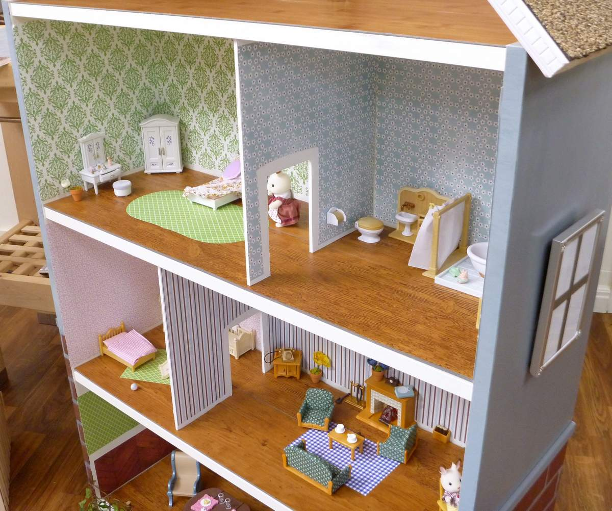 Домик для кукол своими руками (50 фото процесса): из коробки и фанеры