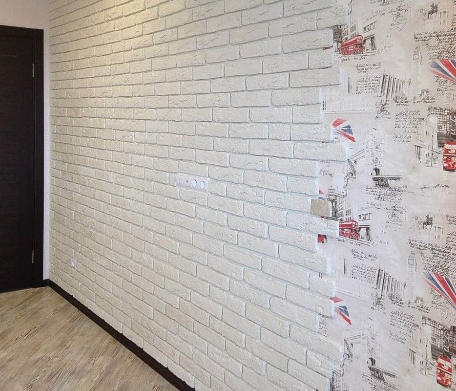 Декоративный камень в интерьере прихожей фото: отделка обоями, дизайн коридора в квартире, гибкий и дикий камень
