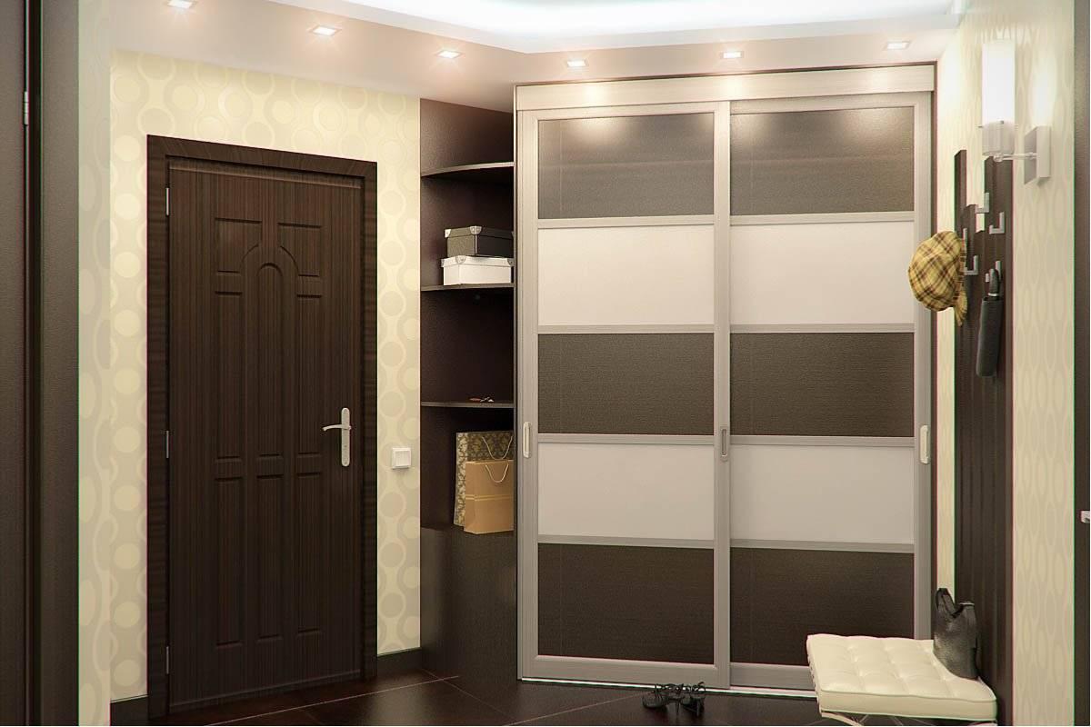 Встроенные шкафы-купе в прихожей - 35 примеров с фото