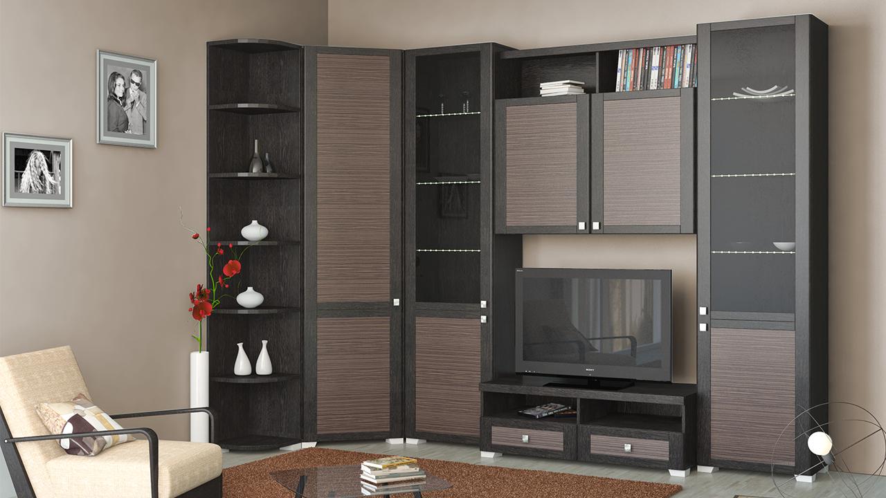 Стенка в гостиную (зал): дизайн, виды, материалы, цвета, варианты размещения и заполнения