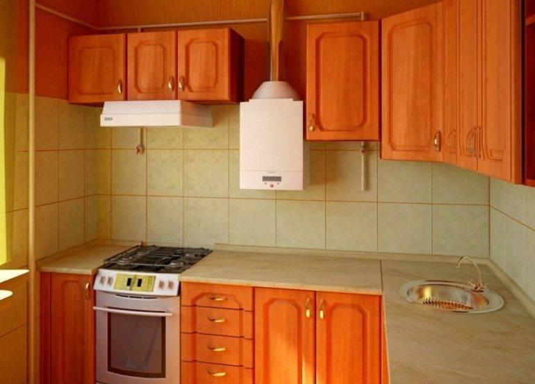 Перепланировка кухни в хрущевке с газовой колонкой