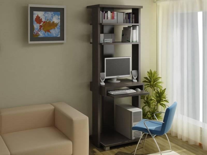 Стенка с компьютерным столом в гостиную (18 фото): письменные модели и для компьютера в зал