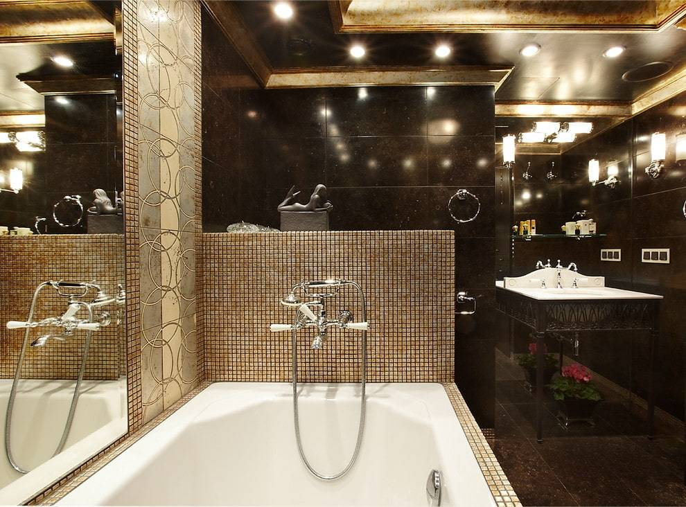 Дизайн плитки в ванной комнате