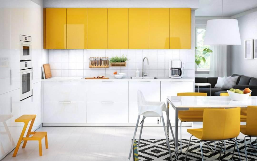 Желтая кухня в интерьере: фото с примерами кухни в желтом цвете и сочетания цветов в дизайне