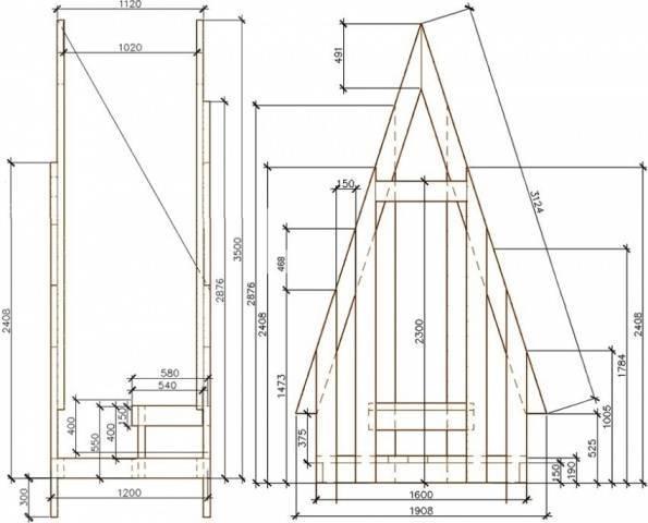 Строим дачный туалет: проекты чертежи размеры + фото