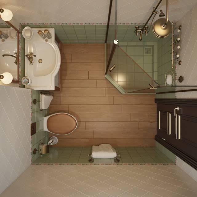 Ванная комната с душевой кабиной – дизайн малогабаритного санузла