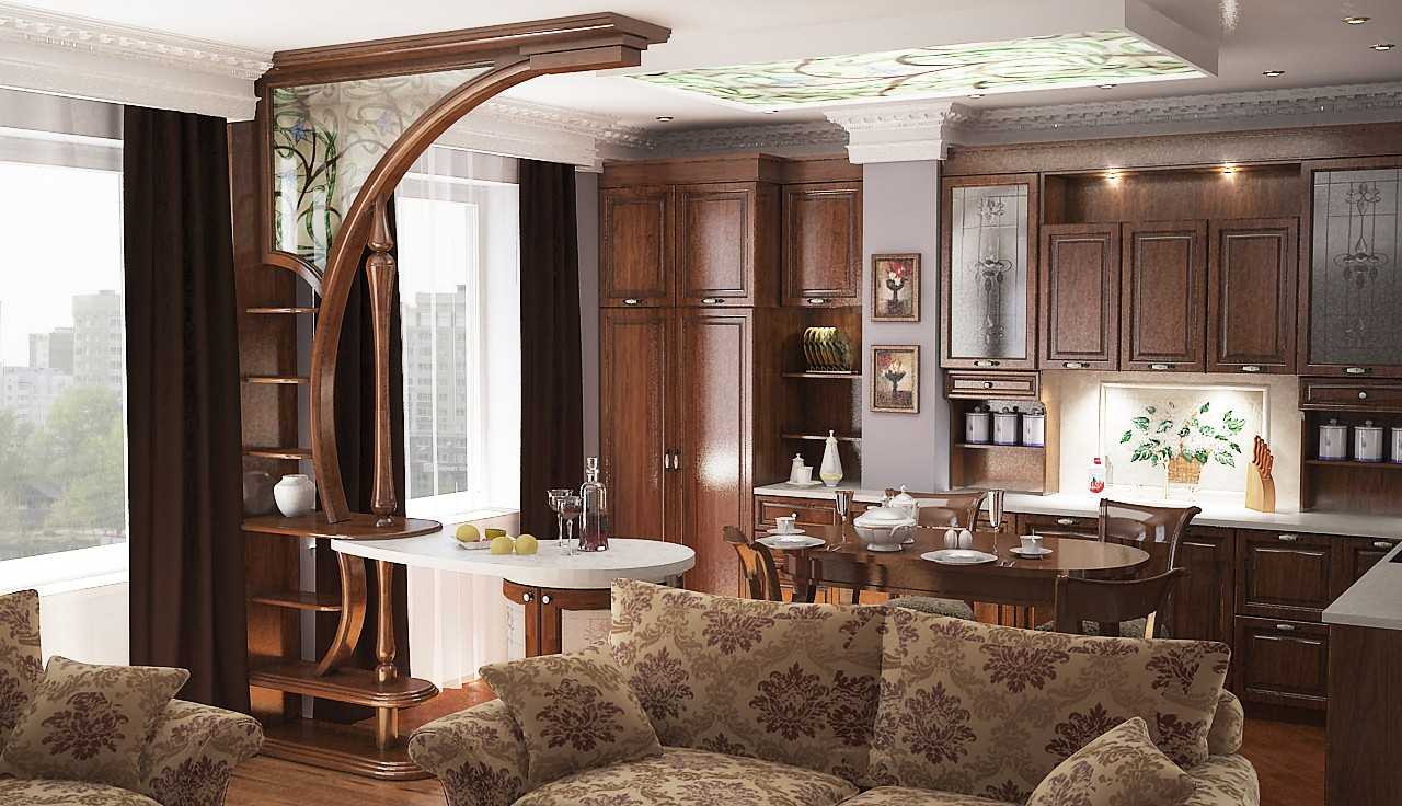 Дизайн кухни-столовой-гостиной в частном доме: 75 фото интерьеров
