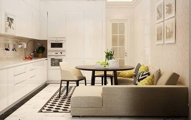 Дизайн кухни с диваном: 75 вариантов функционального интерьера