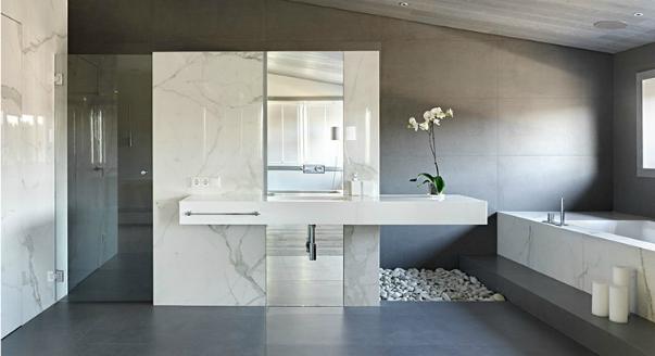 Ванная комната в стиле минимализм: два в одном – роскошь и скромность