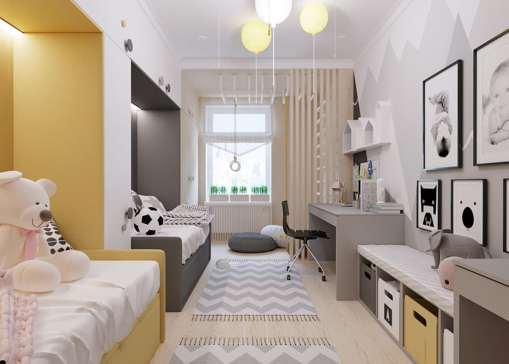 Мебель для детской комнаты для двоих детей: 60 реальных фото