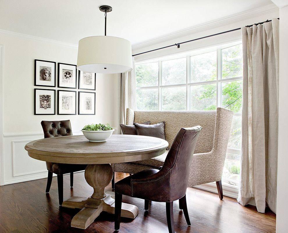 Круглый стол на кухню: 100 фото-идей современных столов