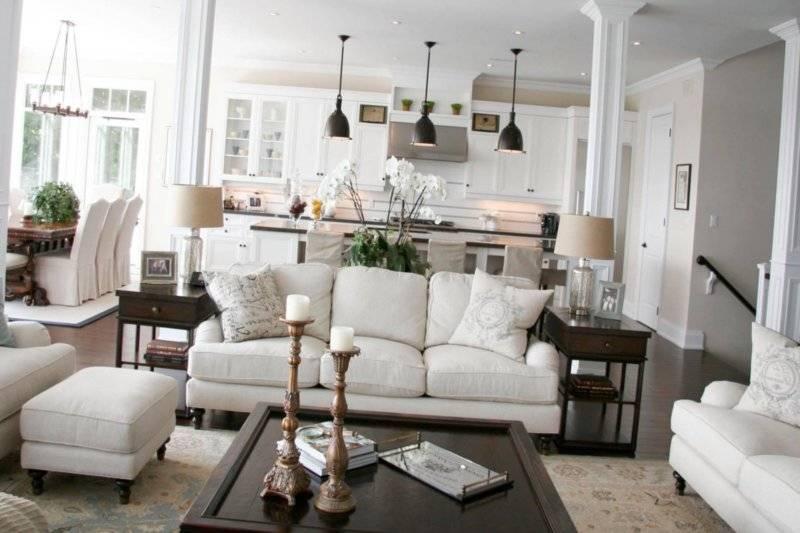 Как разделить кухню и гостинную: свет в гостинной совмещенной с кухней, как зонировать в студии