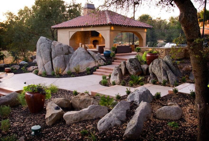 Камни для ландшафтного дизайна - советы по выбору и применению в ландшафтном дизайне камней (105 фото + видео)