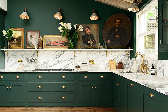 Зеленая кухня в интерьере — как создать гармоничный дизайн