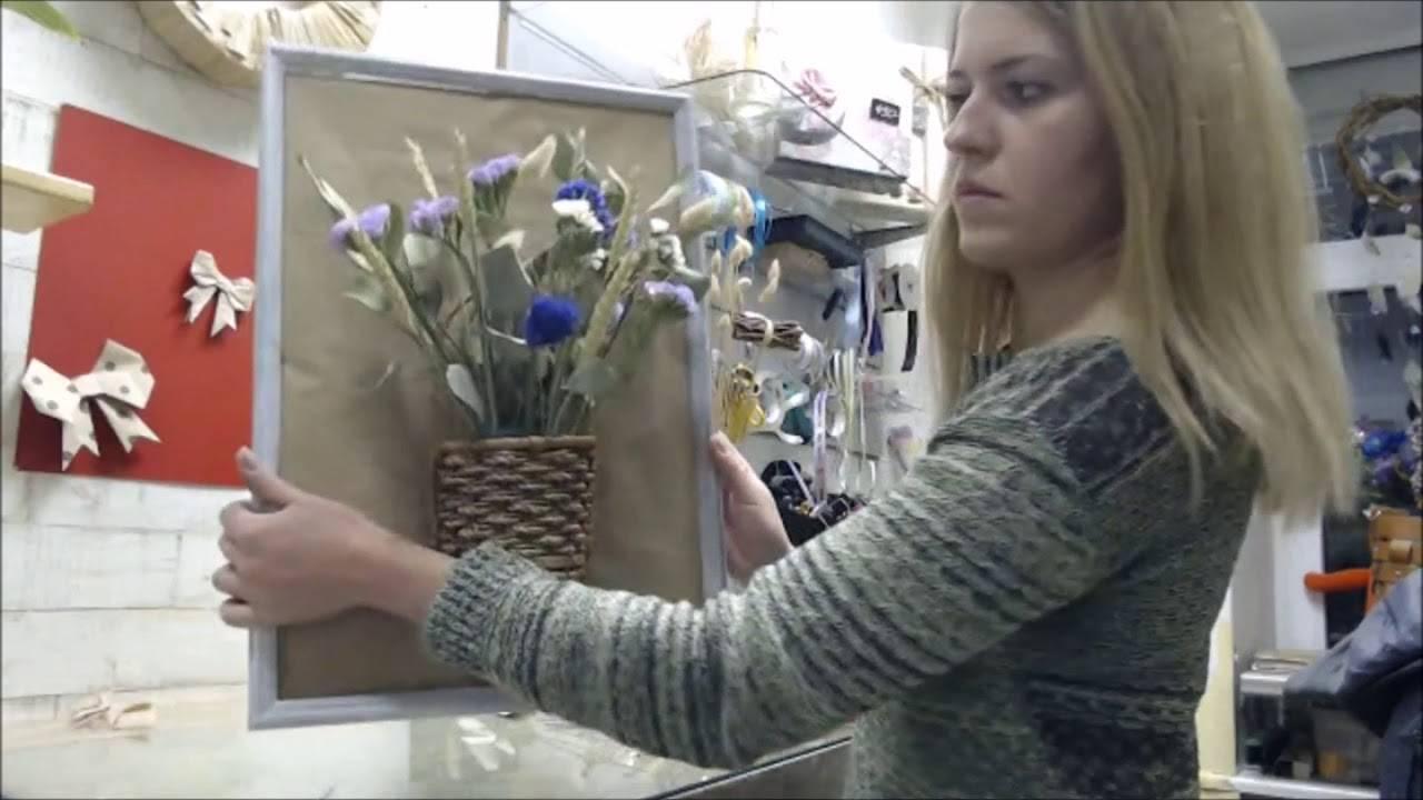 Композиции из сухоцветов для интерьера своими руками. букеты из сухоцветов