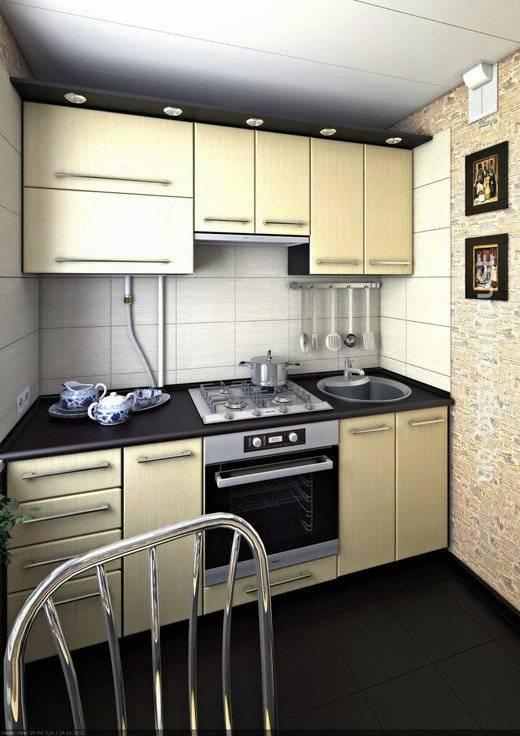 Прямые кухни длиной 2-2,5 метра. как обставить, чтобы все уместить