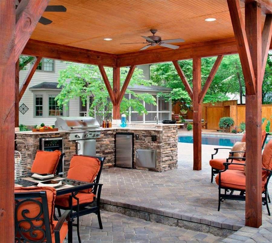 Летняя кухня на даче: проекты, как построить из подручных материалов своими руками, дачные конструкции закрытого типа с верандой