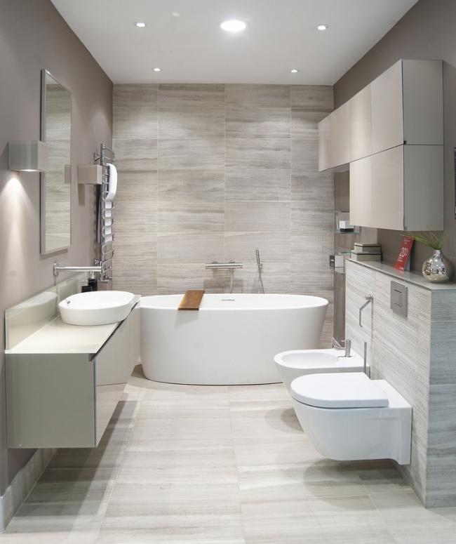 Ванная в стиле хай-тек - основные правила, обязательные элементы и оптимальные сочетания