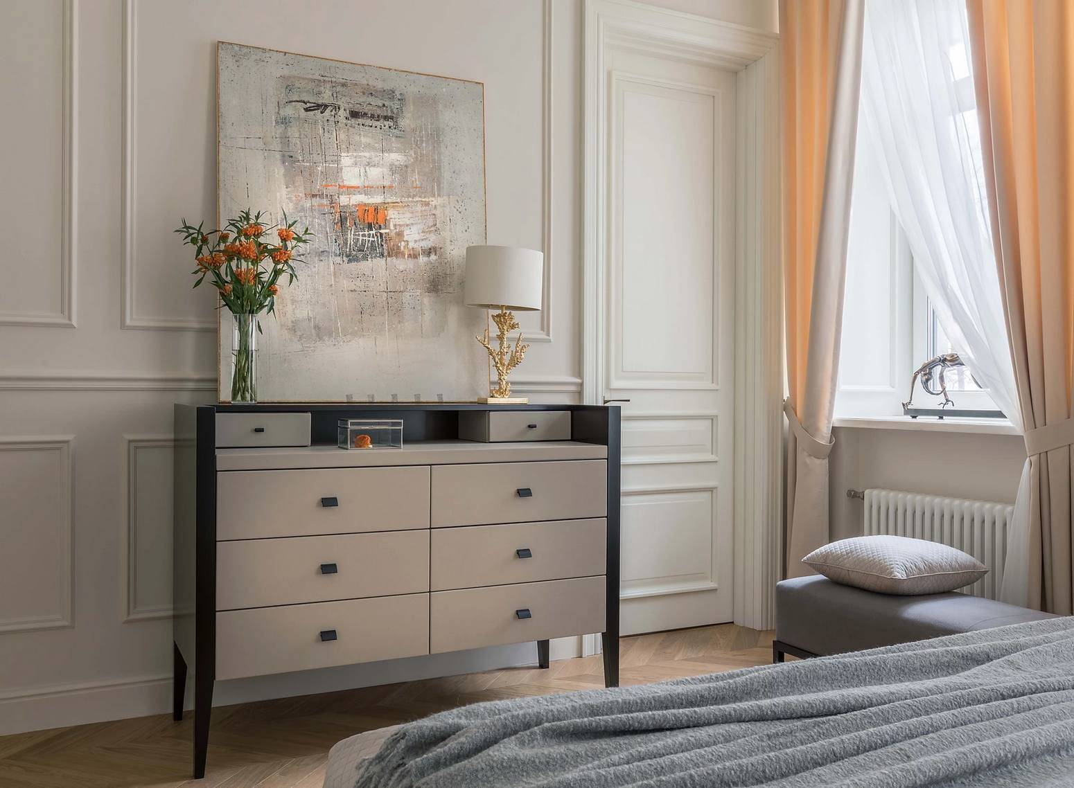 Угловые спальни:110+ (фото) интерьеров с наполнением
