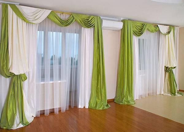 Зеленые шторы в интерьере: 42 идеи для вдохновения