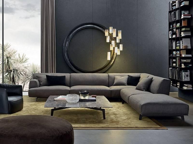 Серый диван в интерьере: виды, фото, дизайн, сочетание с обоями, шторами, декор