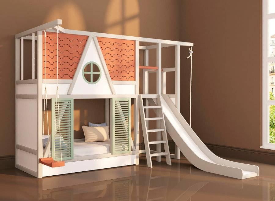 2-х ярусные кровати: для детей, фото, особенности конструкции, виды, с диваном и со шкафом, как правильно выбрать, плюсы и минусы