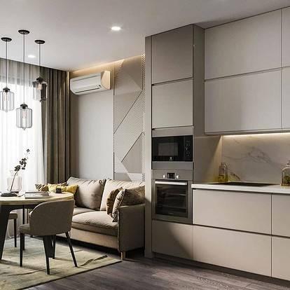 Кухни-гостиные 13 кв. метров: дизайн, фото реальных интерьеров и планировка