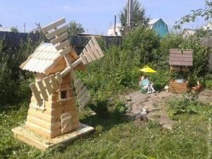 Ветряная декоративная мельница на даче своими руками - фото | своими руками - как сделать самому