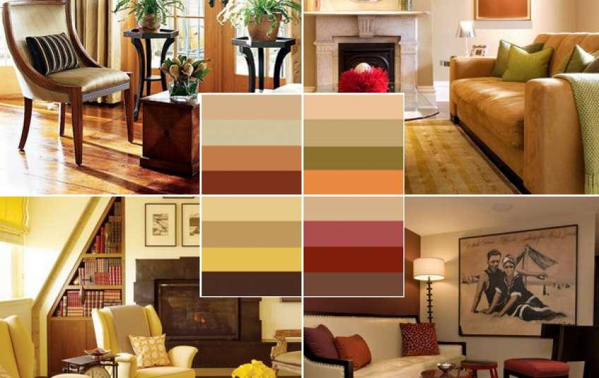 Подбираем цвет для гостиной: популярные сочетания оттенков