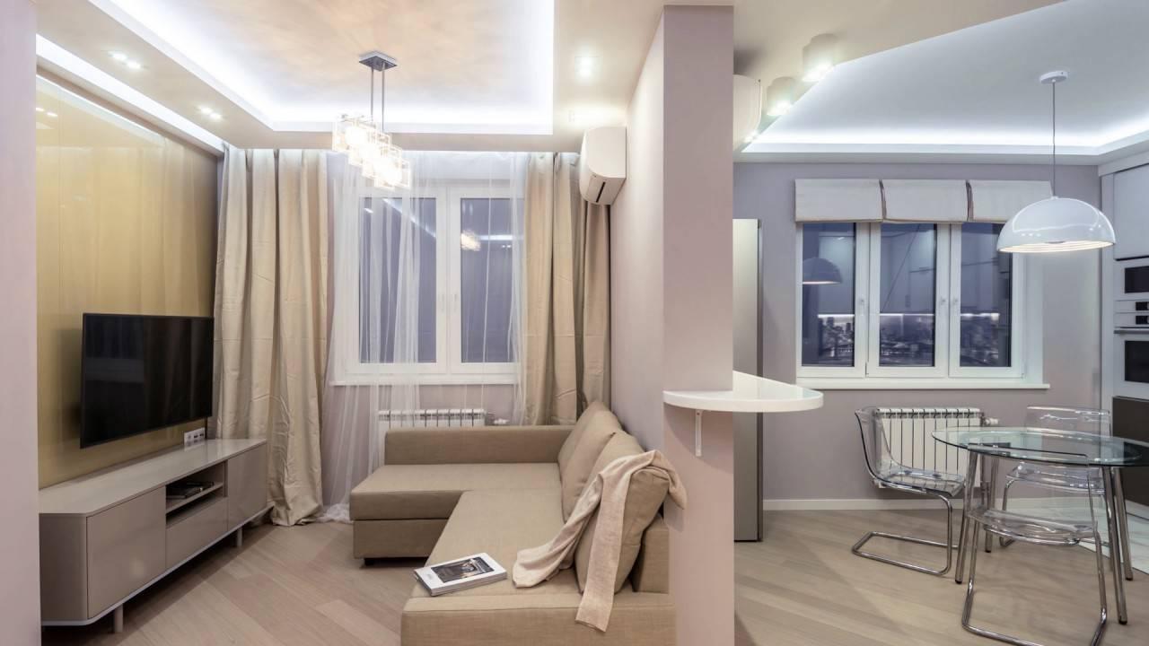 Дизайн квартиры 57 кв. м. – 5 проектов с фото и планировками