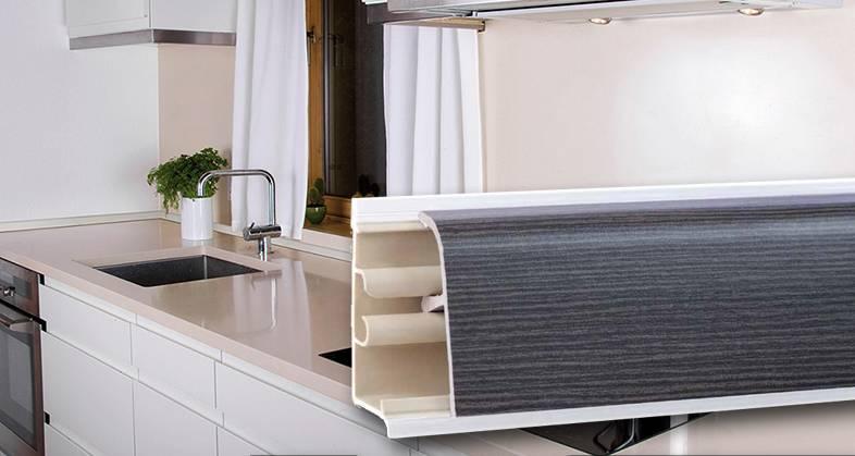 5 советов по выбору и установке кухонного плинтуса для столешницы