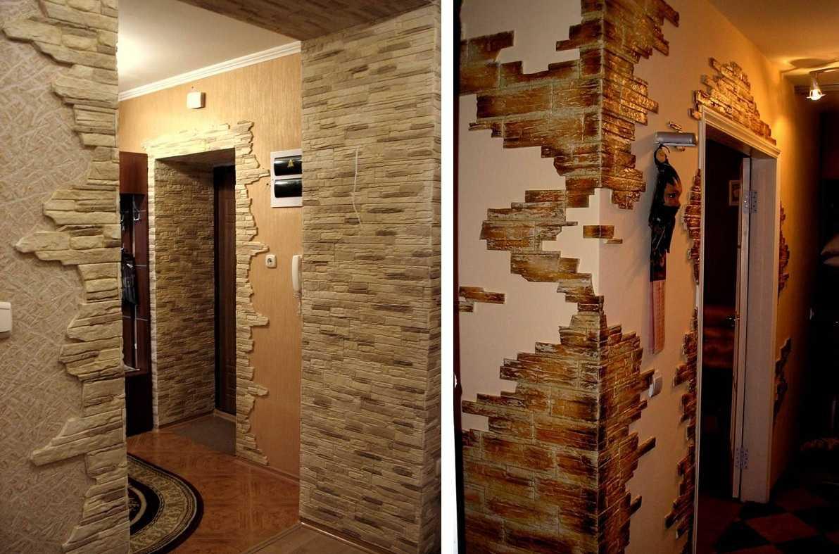 Искусственный камень в отделке коридора, секреты для мастеров