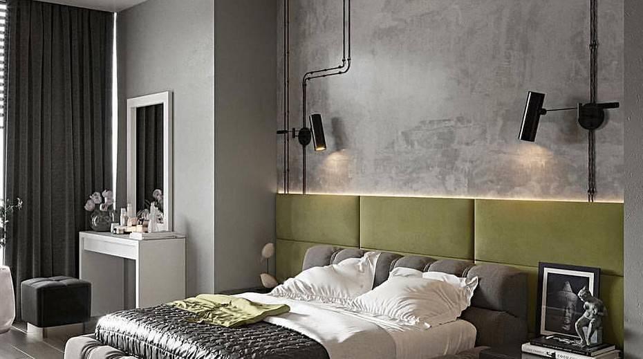 Лофт в современной спальне -78 фото примеров