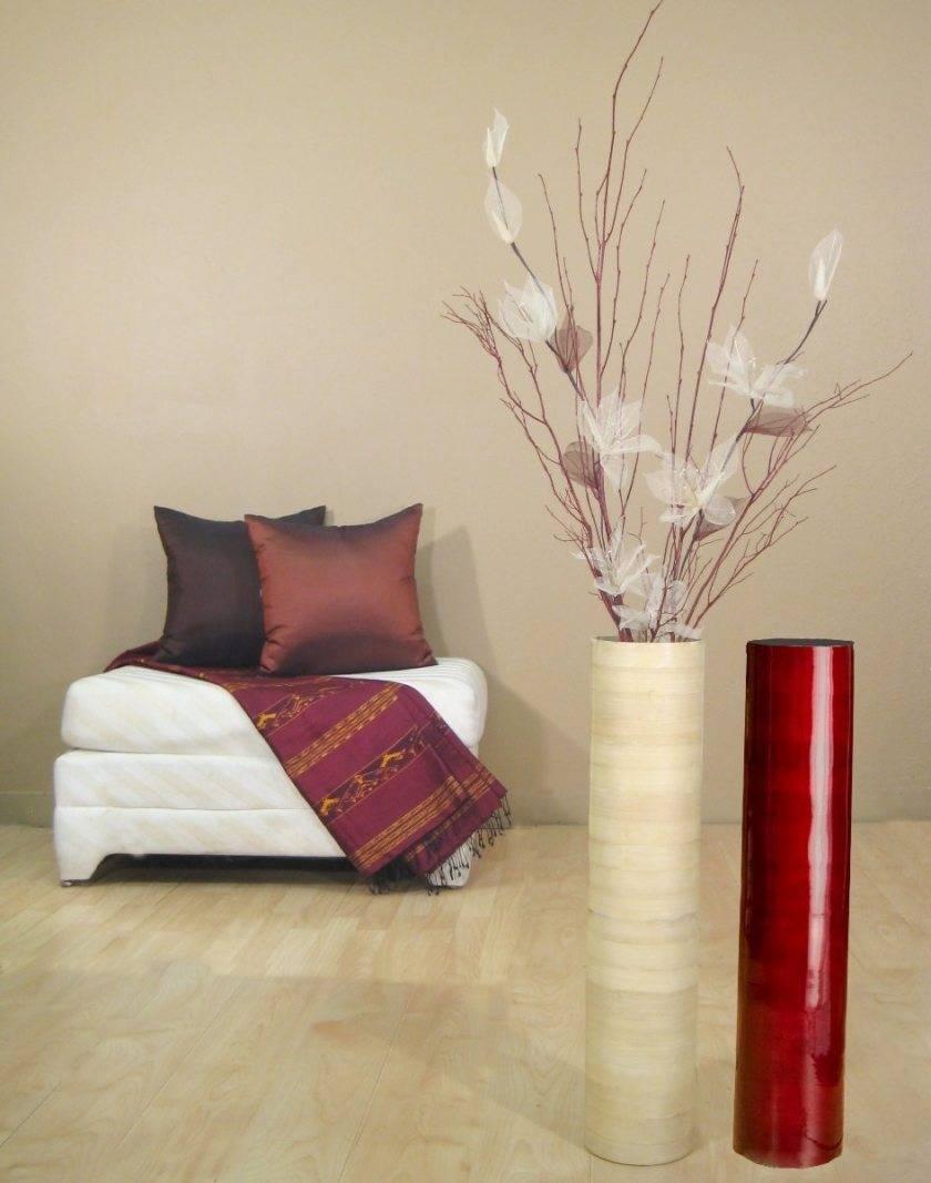 Напольные вазы (39 фото): выбираем для интерьера декоративные высокие и большие керамические  вазы для цветов, плетеные и стеклянные