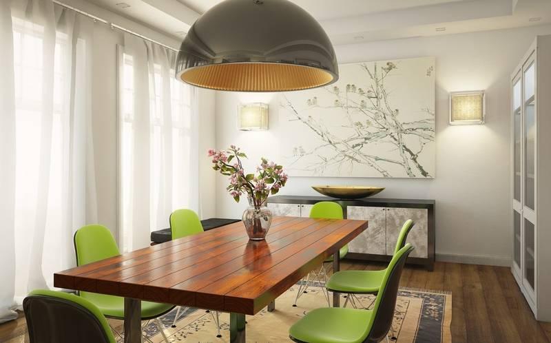Фисташковая кухня в дизайне интерьера