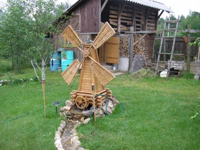 Декоративная мельница – варианты изготовления - 16 фото