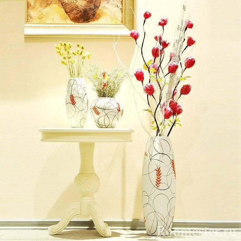 Напольные вазы в интерьере преображают жилище. идеи, фото