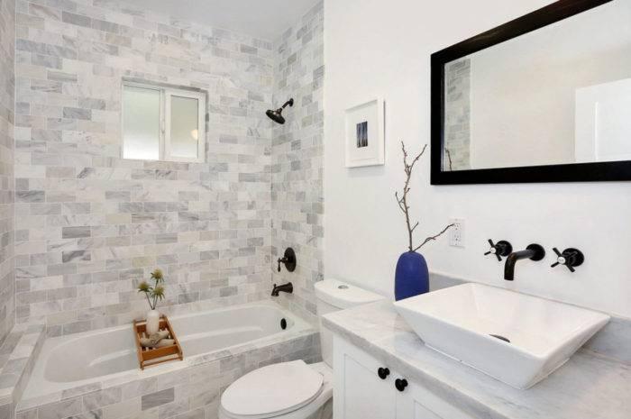 Дизайн маленькой ванной комнаты без туалета: выбираем стиль