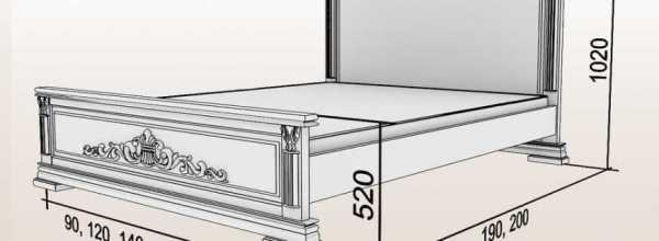 Размеры односпальных кроватей