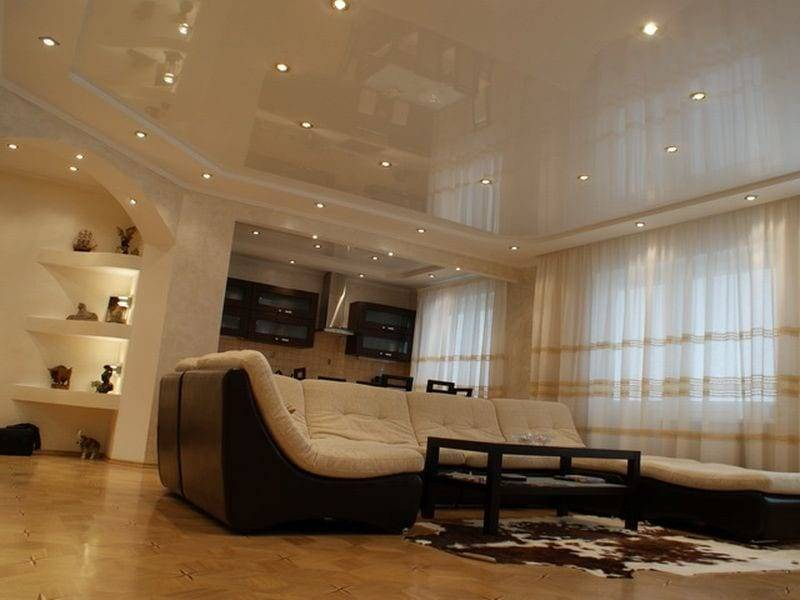 Двухуровневый потолок: стиль и материалы